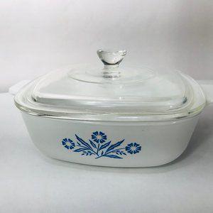Corning Ware Blue Cornflower 1 Qt Casserole Dish